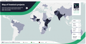 Map of livestock development projects