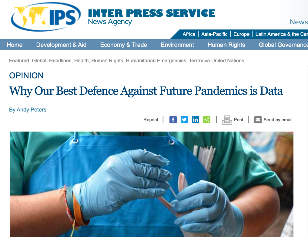 Our Best Defence Against Future Pandemics is Data